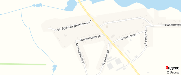 Привольная улица на карте села Графовки с номерами домов