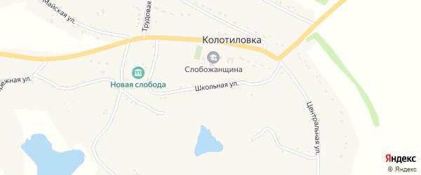 Школьная улица на карте села Колотиловки с номерами домов