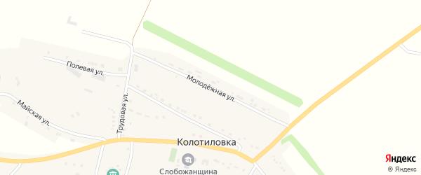 Молодежная улица на карте села Колотиловки с номерами домов