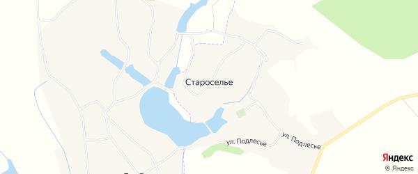 Карта села Староселья в Белгородской области с улицами и номерами домов