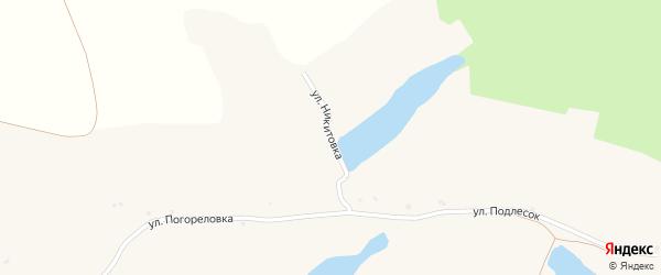 Улица Никитовка на карте села Пороза с номерами домов