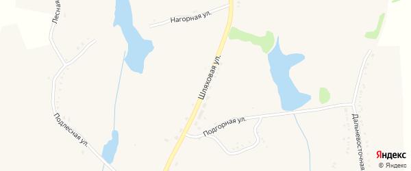 Шляховая улица на карте села Репяховки с номерами домов