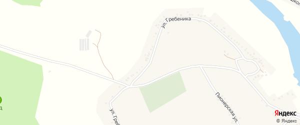 Улица Гребеника на карте Вязового села с номерами домов