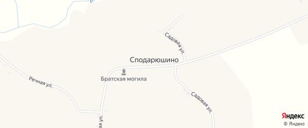 Садовая улица на карте села Сподарюшино с номерами домов
