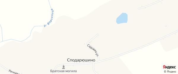 Сумская улица на карте села Сподарюшино с номерами домов