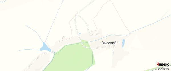 Карта Подвысокого хутора в Белгородской области с улицами и номерами домов