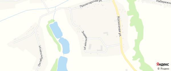 Знаменская улица на карте Вязового села с номерами домов
