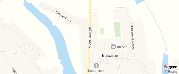 Советская улица на карте Вязового села с номерами домов