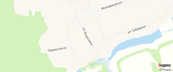Улица Борисовка на карте села Смородино с номерами домов