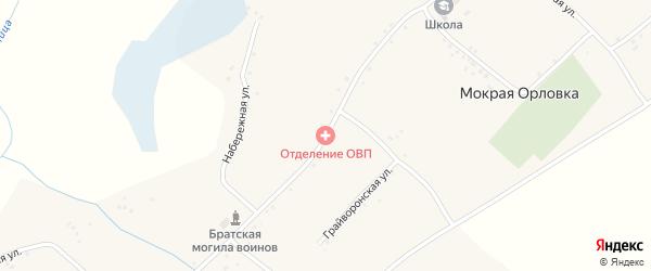 Центральная улица на карте села Мокрой Орловки с номерами домов