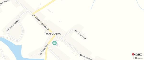 Улица Аленина на карте села Теребрено с номерами домов