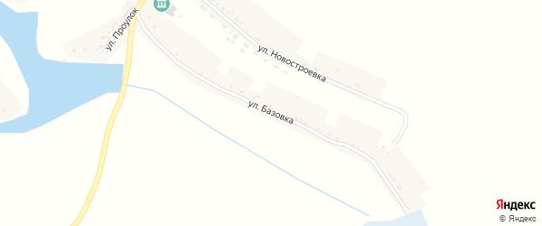 Улица Базовка на карте села Теребрено с номерами домов
