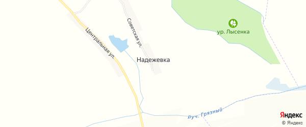 Карта села Надежевки в Белгородской области с улицами и номерами домов