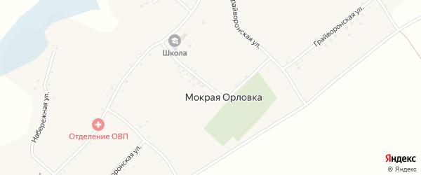 Грайворонская улица на карте села Мокрой Орловки с номерами домов