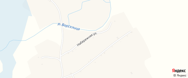 Набережная улица на карте села Мокрой Орловки с номерами домов