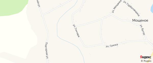 Улица Гончара на карте Мощеного села с номерами домов
