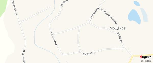 Подгорная улица на карте села Дунайки с номерами домов