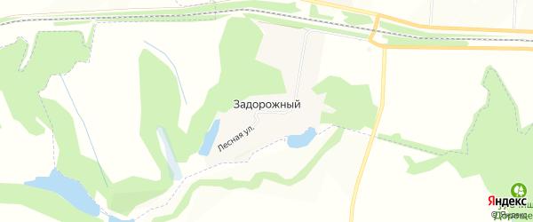 Карта Задорожного поселка в Белгородской области с улицами и номерами домов