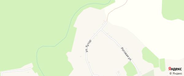 Улица Хутор на карте Мощеного села с номерами домов