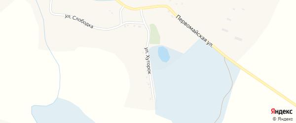 Улица Хуторок на карте села Дунайки с номерами домов