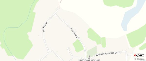 Роговая улица на карте Мощеного села с номерами домов
