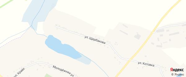 Улица Щербаковка на карте села Илека-Пеньковки с номерами домов