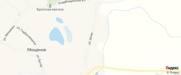 Улица Шлях на карте Мощеного села с номерами домов