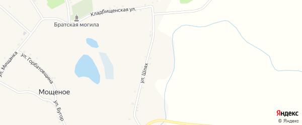 Новая улица на карте Мощеного села с номерами домов
