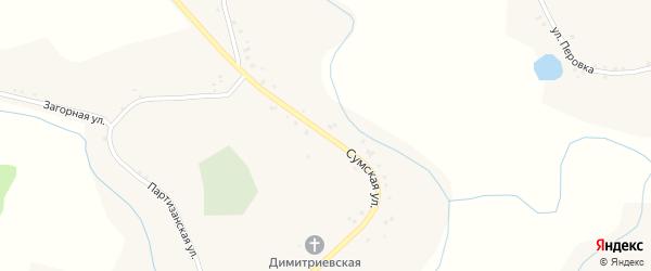 Сумская улица на карте села Дорогощи с номерами домов