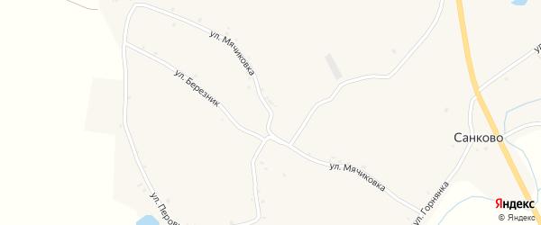 Улица Мячиковка на карте села Санково с номерами домов
