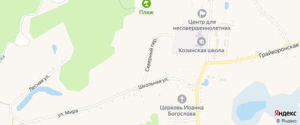 Полевой переулок на карте села Козинки с номерами домов