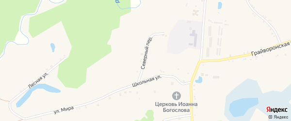 Проселочная улица на карте села Козинки с номерами домов
