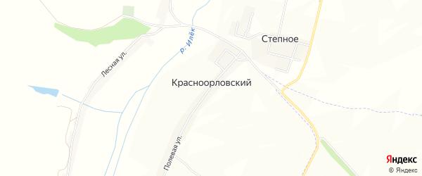 Карта Красноорловского хутора в Белгородской области с улицами и номерами домов