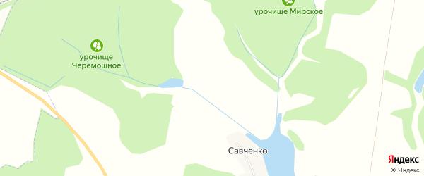 Карта хутора Савченко в Белгородской области с улицами и номерами домов