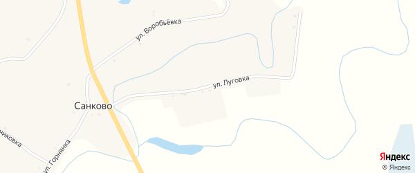 Улица Луговка на карте села Санково с номерами домов