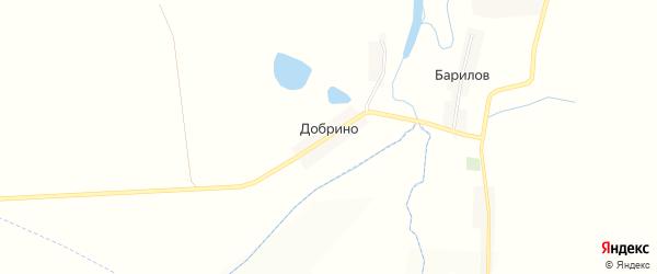 Карта хутора Добрино в Белгородской области с улицами и номерами домов