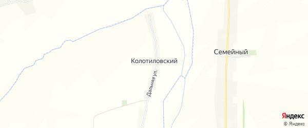 Карта Колотиловского хутора в Белгородской области с улицами и номерами домов
