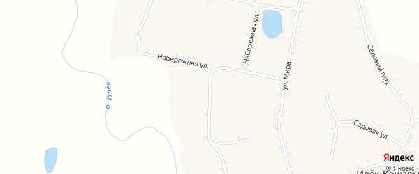 Набережная улица на карте села Илека-Кошары с номерами домов