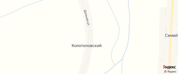 Дальняя улица на карте Колотиловского хутора с номерами домов