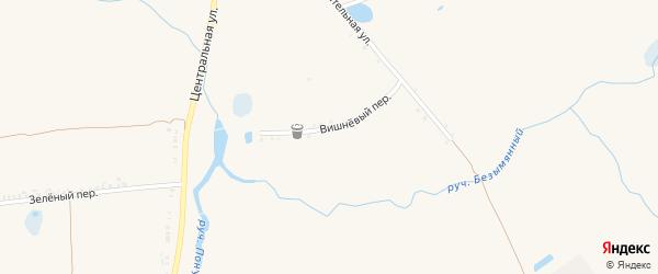 Вишневый переулок на карте села Козинки с номерами домов