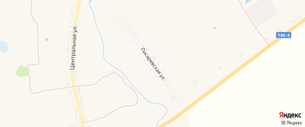 Писаревская улица на карте села Козинки с номерами домов
