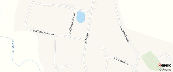Улица Мира на карте села Илека-Кошары с номерами домов