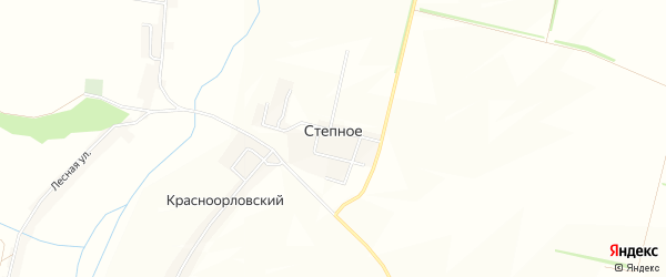Карта поселка Степного в Белгородской области с улицами и номерами домов