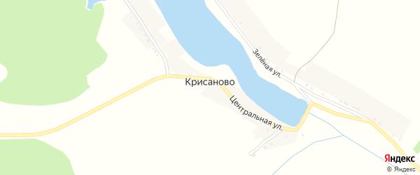 Зеленая улица на карте хутора Крисаново с номерами домов