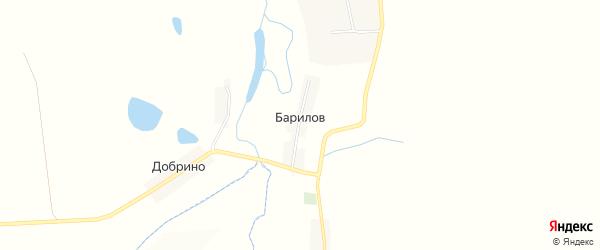 Карта хутора Барилова в Белгородской области с улицами и номерами домов