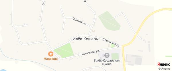 Советская улица на карте села Илека-Кошары с номерами домов