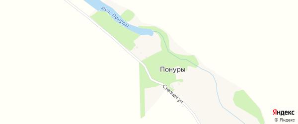 Степная улица на карте хутора Понуры с номерами домов
