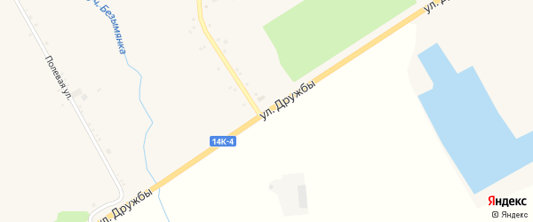 Улица Дружбы на карте села Глотово с номерами домов