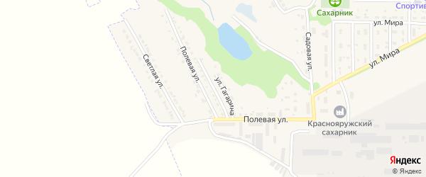 Улица Гагарина на карте поселка Красной Яруги с номерами домов