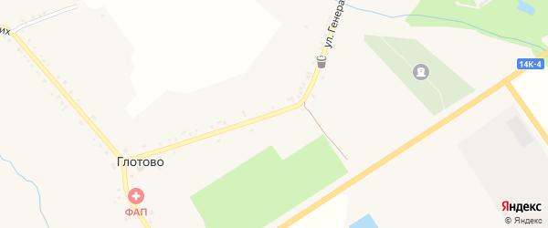 Безыменский переулок на карте села Глотово с номерами домов